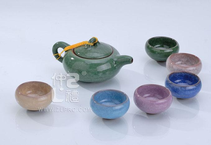 冰裂茶具6色,ZLJY04