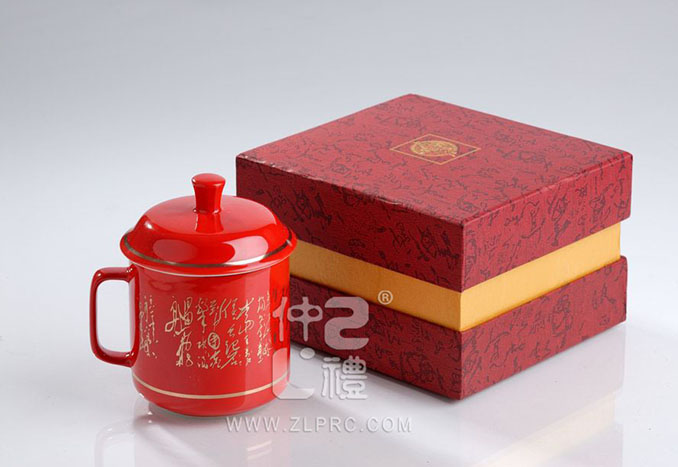 中国红英式诗词单杯,ZLJD04