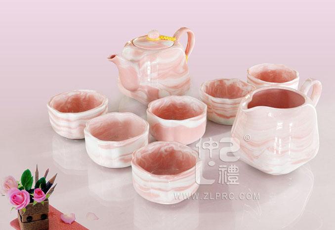 自然之红四方茶具,ZLSS-31