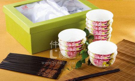 盛世玫瑰10碗10筷
