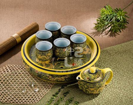 十件套功夫茶具黄海浪金龙