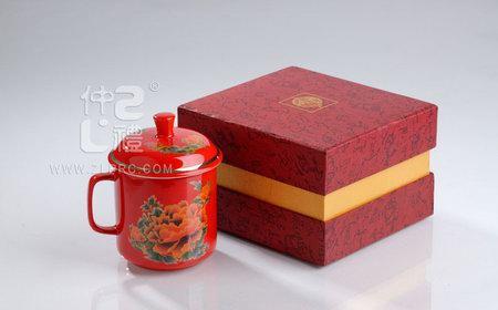 中国红牡丹单杯