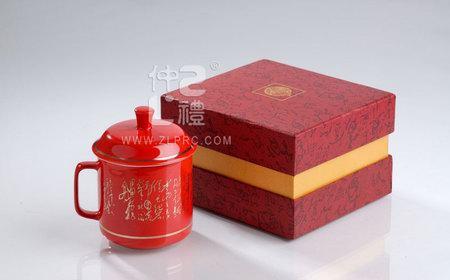 中国红诗词单杯