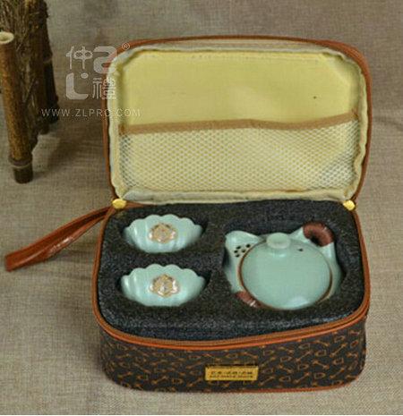 3头汝窑茶具-旅行装